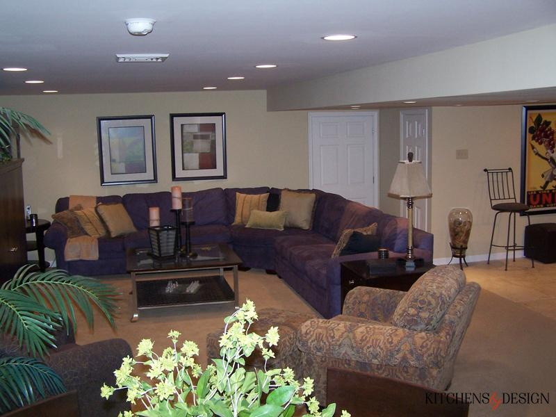 large basement living space design