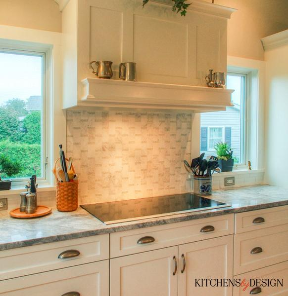 flat top stove with custom backsplash