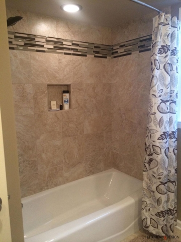 classic look shower with tiling touches